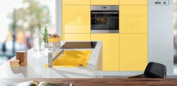 Momentan setzten sich wieder kräftige Farben für Keramikspülbecken - farbe für küche