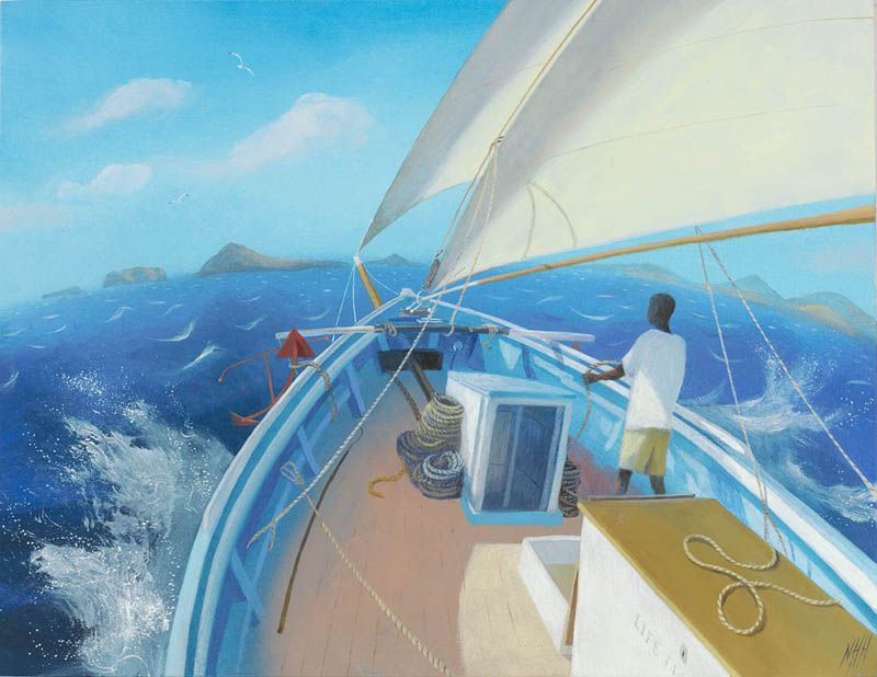Nicholas Hely Hutchinson | A Blue Sea, White Sails and a Warm Breeze