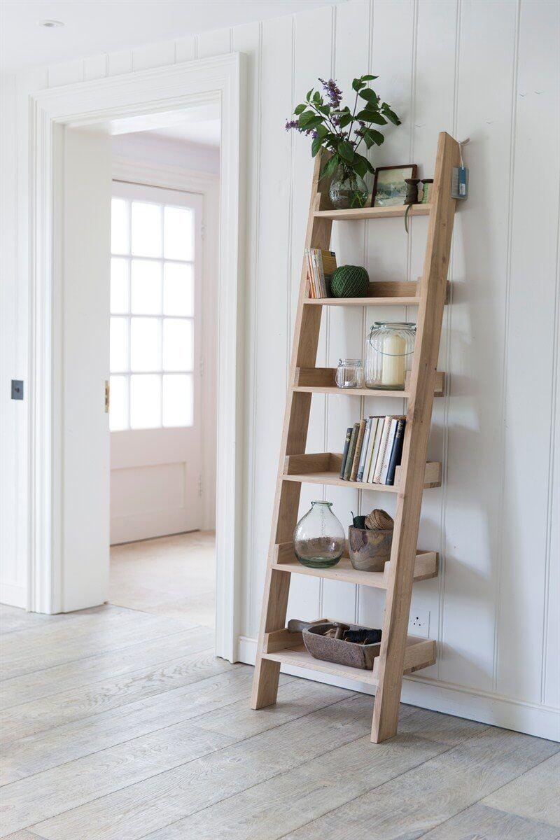 Oak ladder shelf oak ladder shelf shelves and duck egg blue