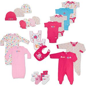 Gerber - Newborn Girls  22-Piece Essential Layette Set  db9d9eb78