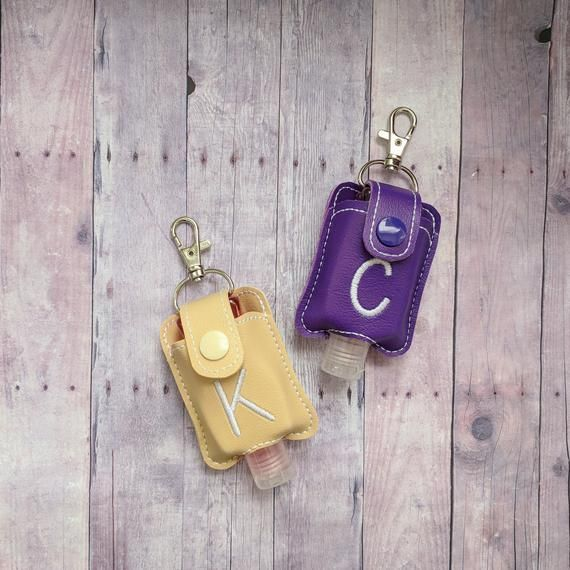 Small Hand Sanitizer Holder Optional Monogram Vinyl In Choice Of