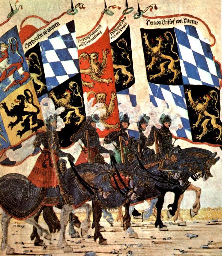 Estandartes de principados alemanes en el siglo XVI