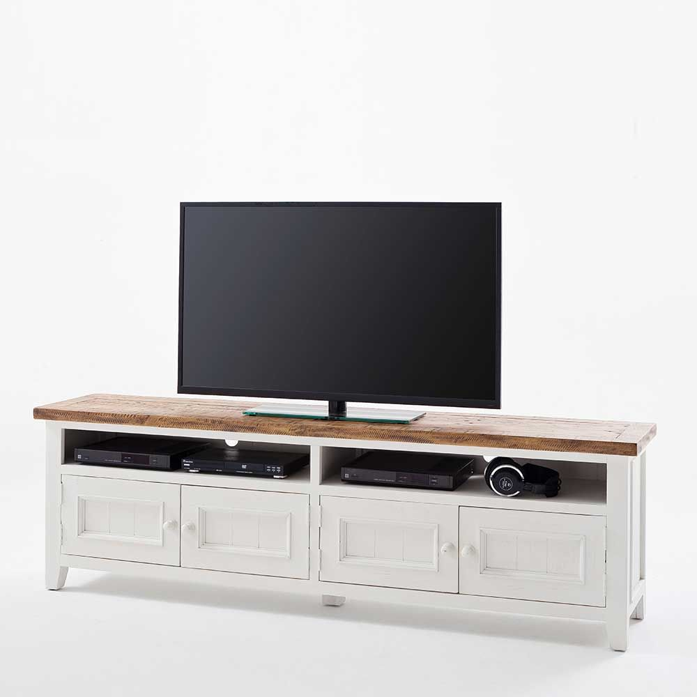 tv lowboard in wei kiefer skandinavisches design jetzt. Black Bedroom Furniture Sets. Home Design Ideas