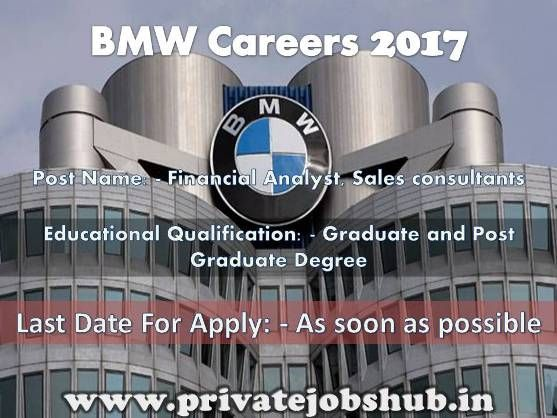 Bmw Group India Has Circulated Job Related Advertisement As Bmw