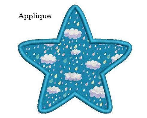 Star embroidery design. Star applique