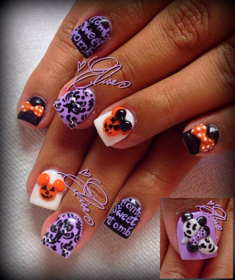 100+ Halloween Nails Acrylic Simple Ideas | Halloween nail ...