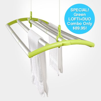 A great product that changes the way we look at hang drying our clothing. The lofti also offers a solution for parents who now use cloth diappers, the eco friendly option for disposables.