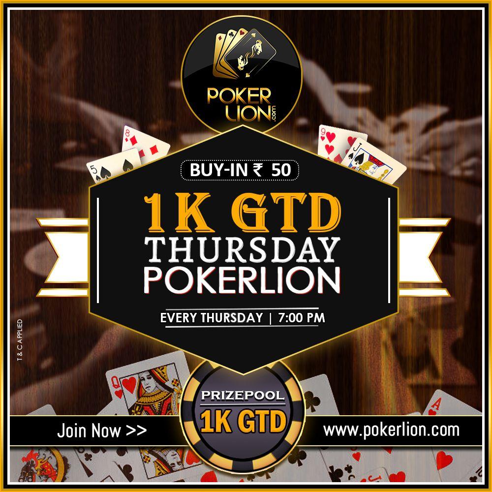 1K GTD THURSDAY POKERLION Poker, Online poker, Money games