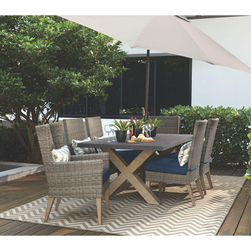Outdoor Furniture In Naples Fl: Home Decorators Collection Naples Grey All-Weather Wicker