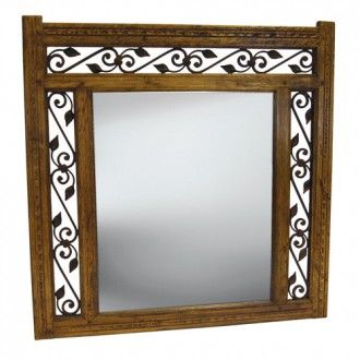 Wrought Iron Mirror Frames With Recycled Timber And Frame