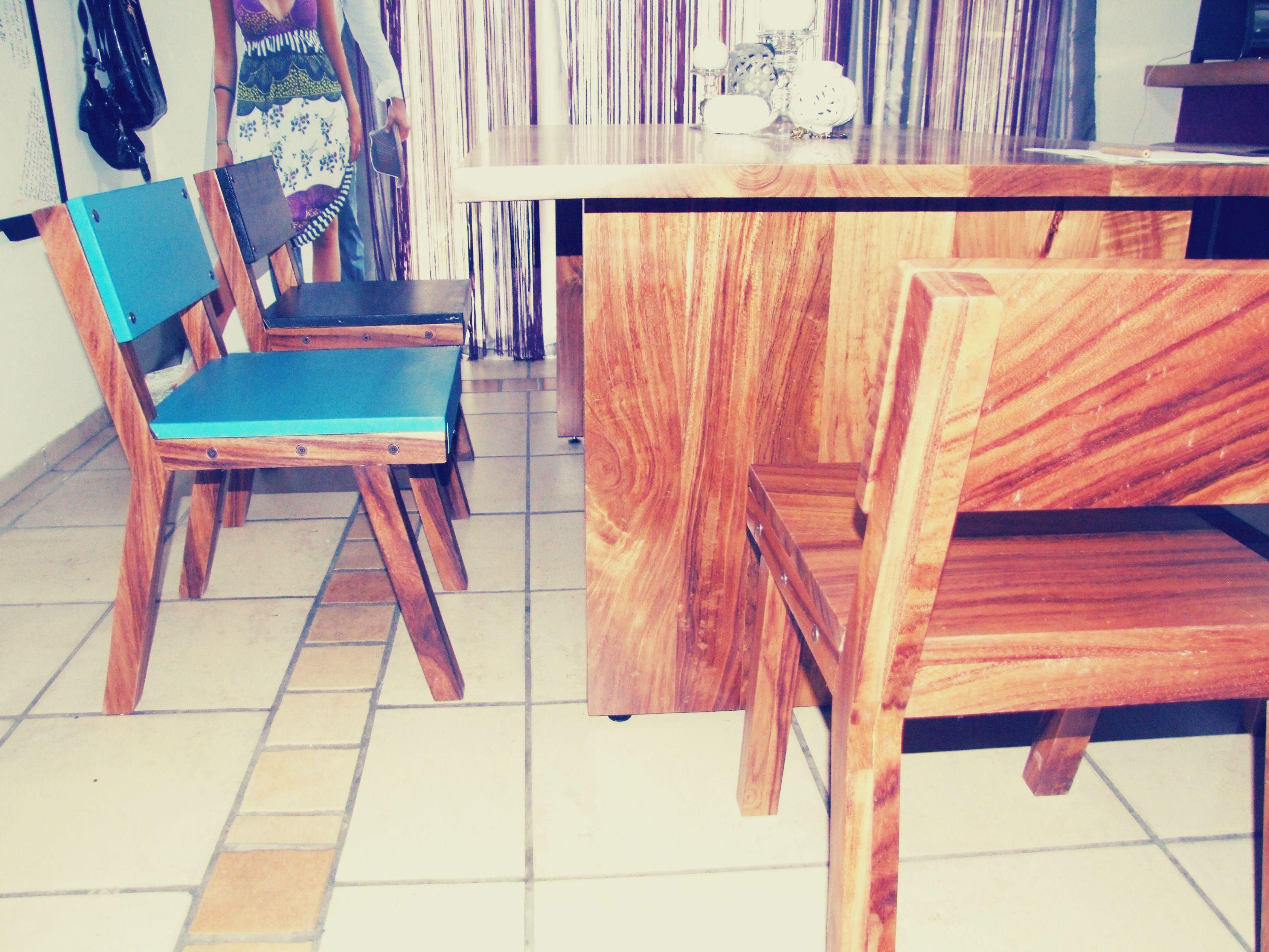 Comedor En Madera De Parota Sillas Lilk Muebles Chairs  # Muebles Puerto Vallarta