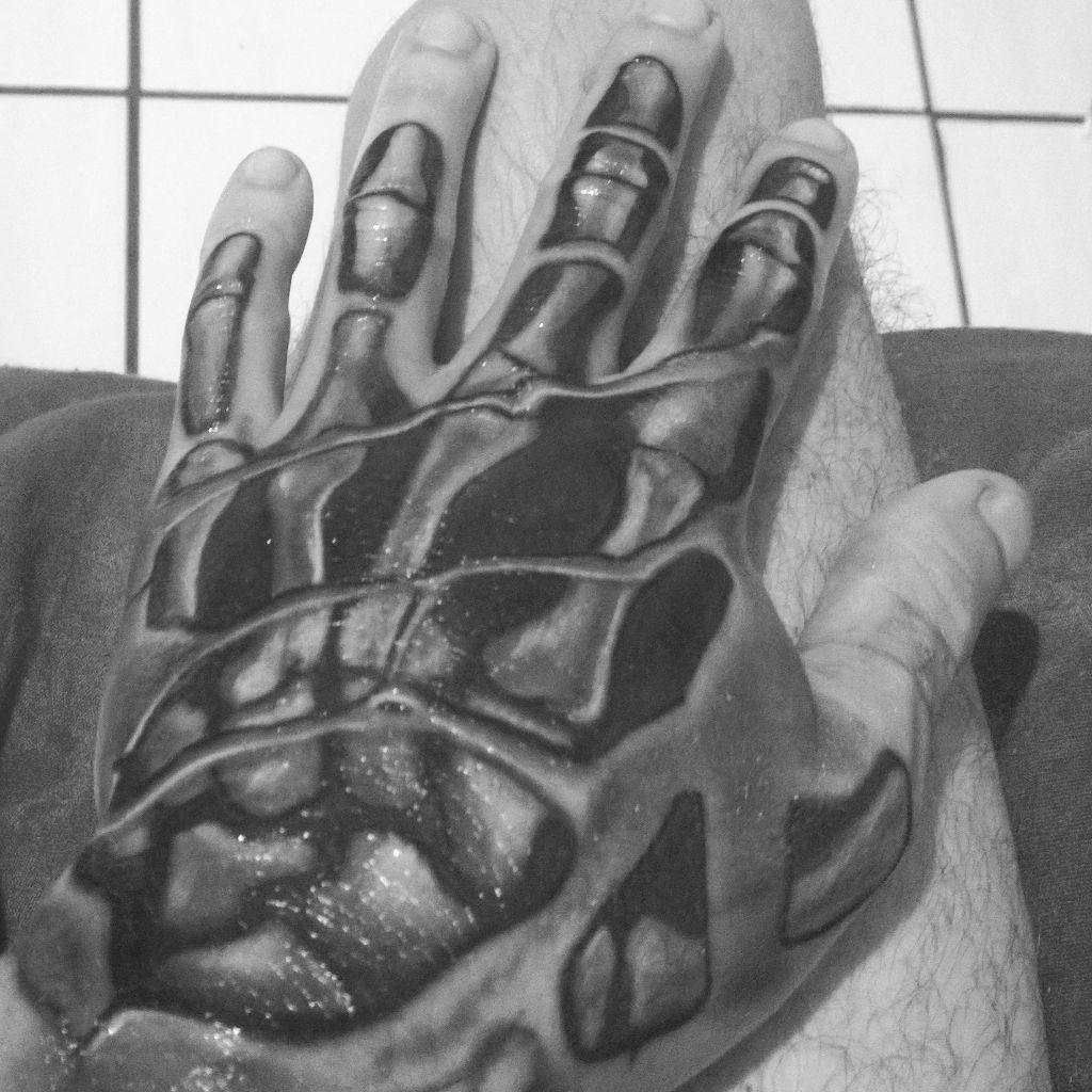 minha mão