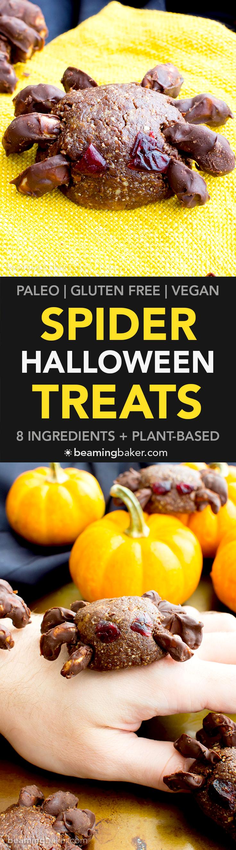 Vegan Halloween Spider Treats (V, GF, Paleo): an 8 ingredient recipe for super…
