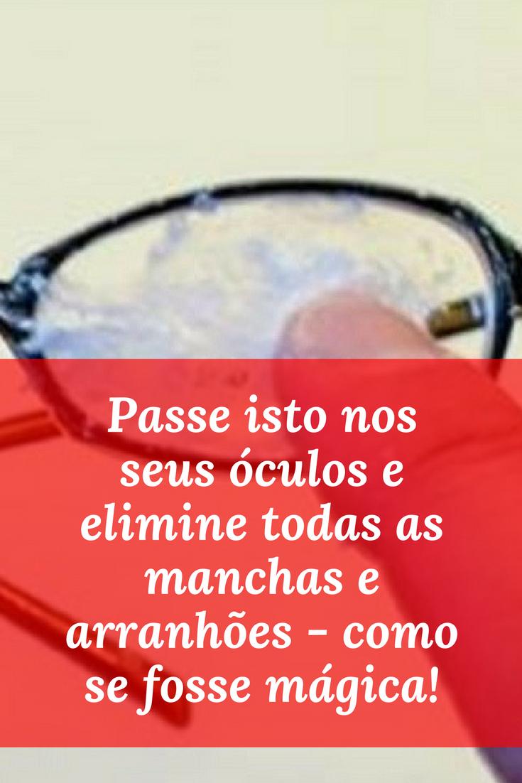 7d4d08dbb Faça você mesmo: As lentes dos seus óculos vão ficar totalmente livres de  manchas e arranhões... Aprenda ↓ ↓ ↓