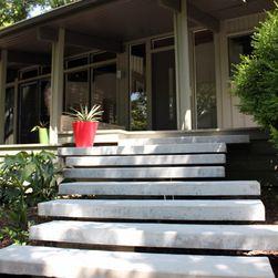 Precast Concrete Slabs Seem To Float Tread Lightly Through The