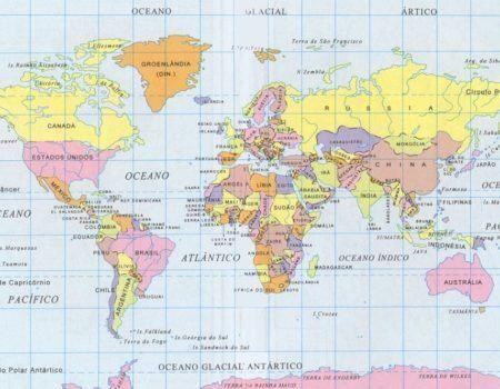 Mapa Mundi para imprimir  Ela e Eu  Roteiros e Viagens