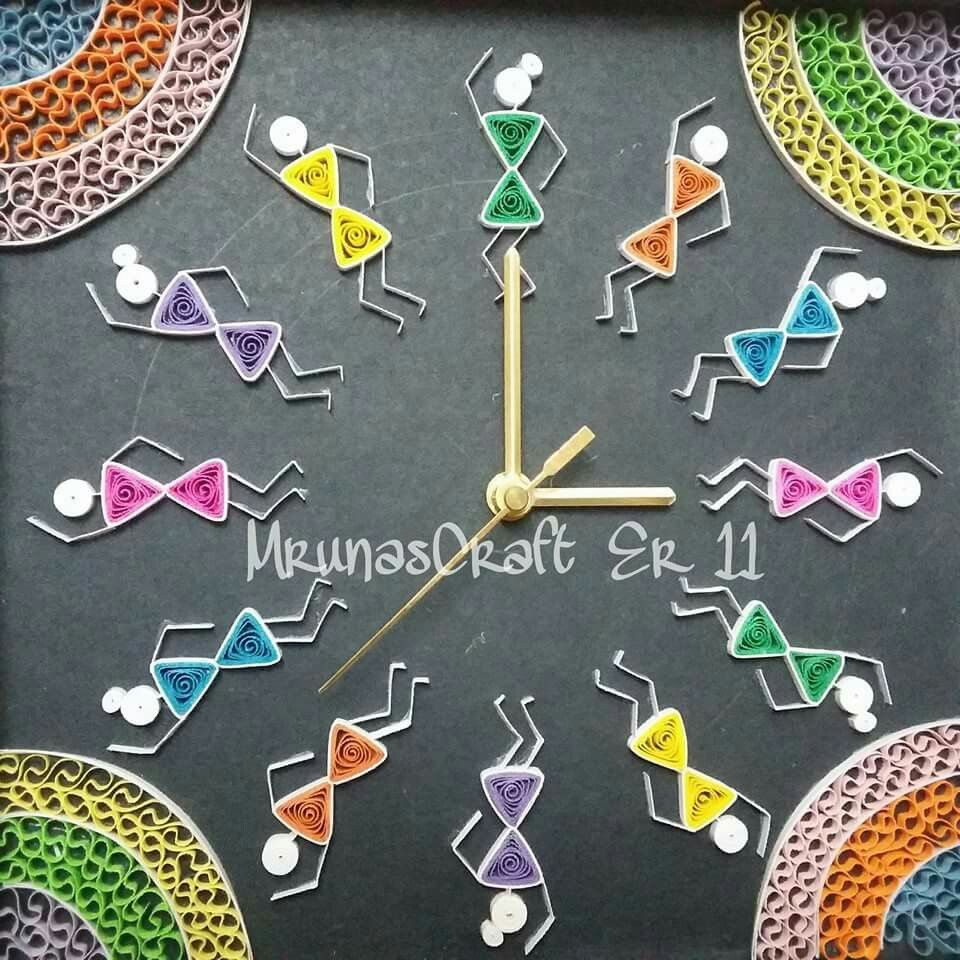 Clock Quilled by MRunasCraft Er11 Clock