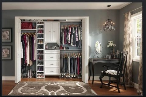 Design Ideas Small Wall Closet Design In White Appearance With