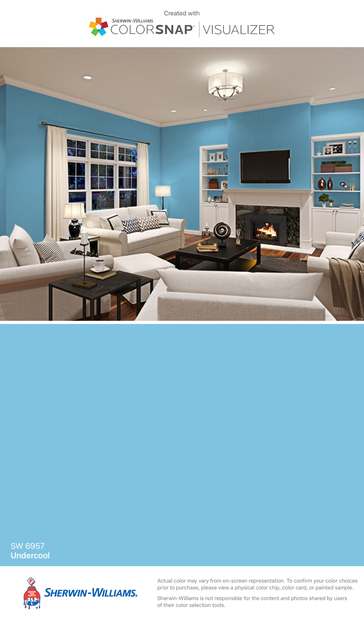 I Found This Color With Colorsnap Visualizer For Iphone By Sherwin Williams Undercool Sw 6957 Sherwin Williams Paint Colors Home Matching Paint Colors [ 1968 x 1158 Pixel ]