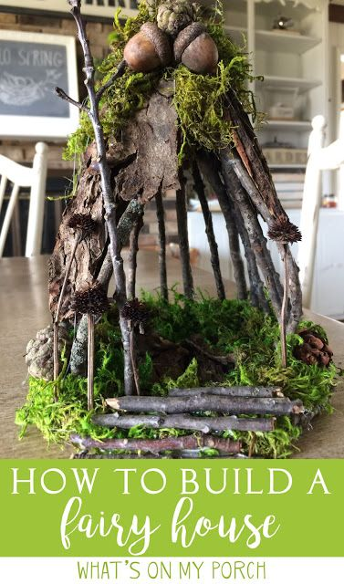 How To Make A Fairy House With Twigs and Moss #twigfurniture