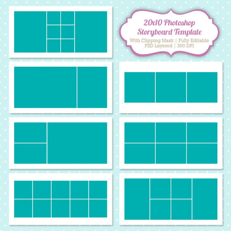Instant Download Storyboard Photoshop Templates KbnnyUn