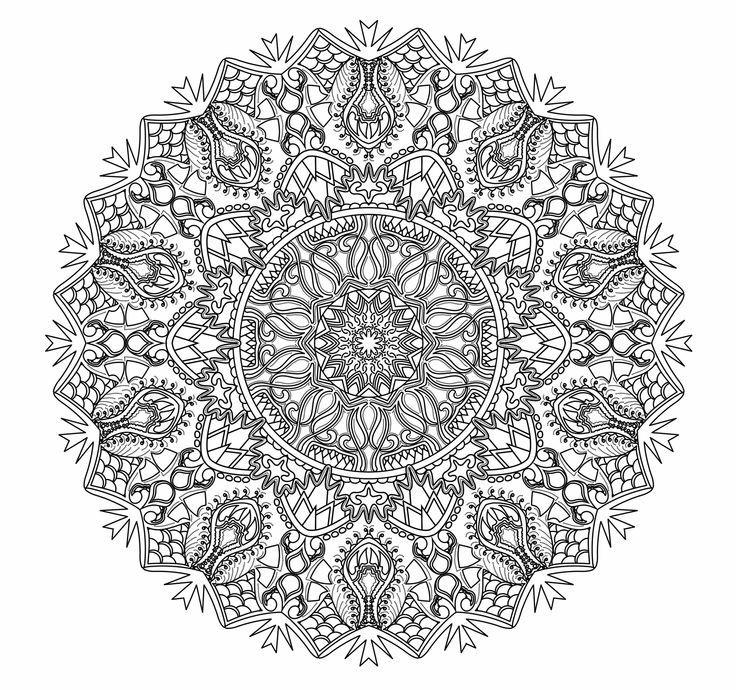 Advanced Mandala Coloring Pages - Cinebrique