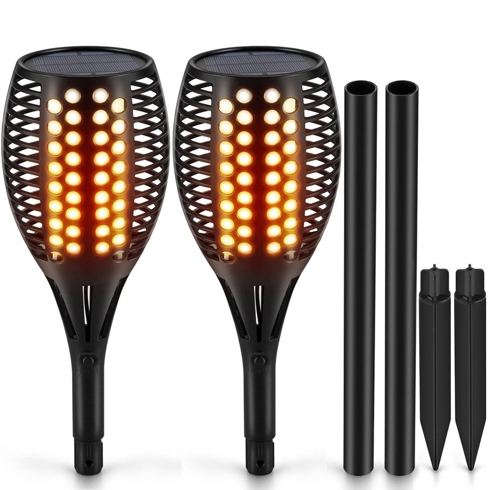 TomCare Solar Lights, Waterproof Flickering Flames Torches Lights Outdoor  Landscape Decoration Lighting Dusk To Dawn