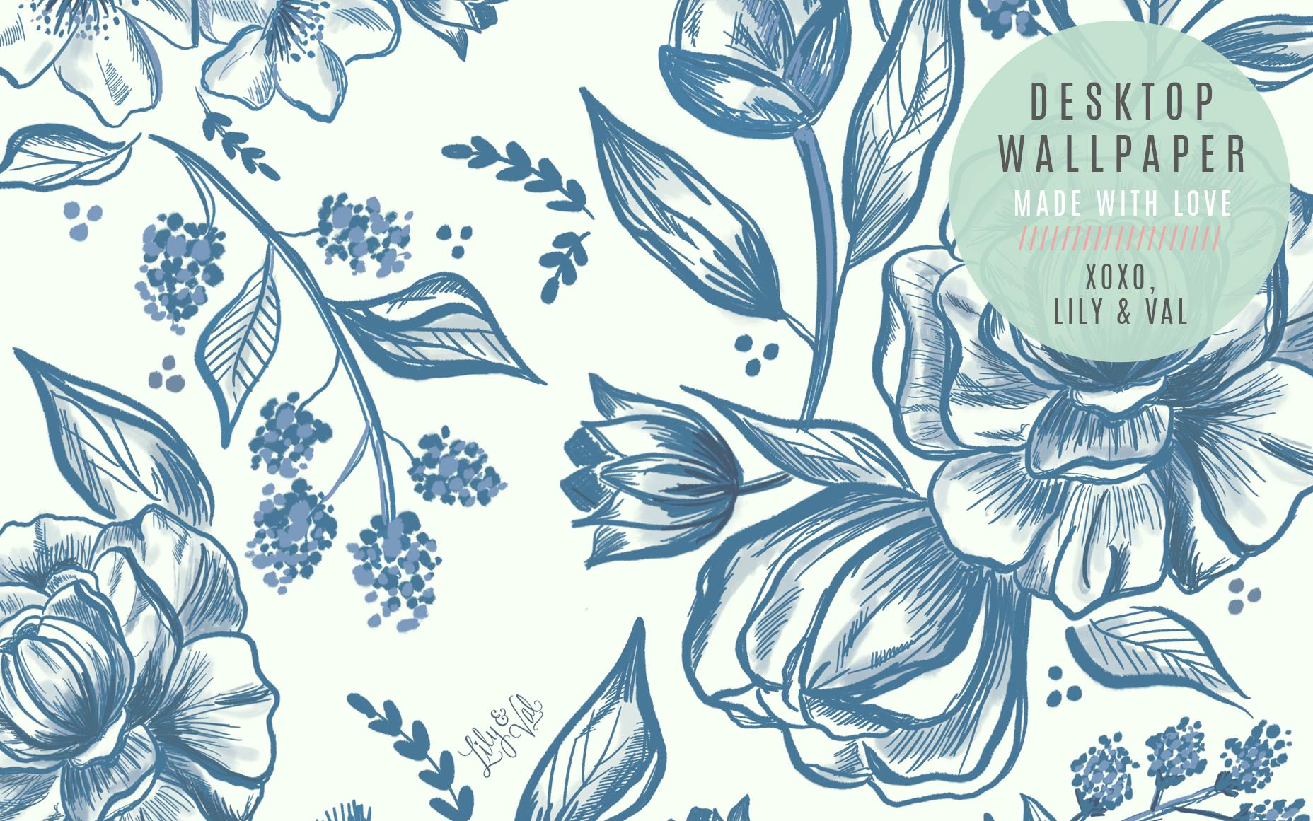August S Blue Floral Free Desktop Wallpaper Download Lily Val Living Free Desktop Wallpaper Backgrounds Desktop Wallpaper Summer Free Desktop Wallpaper