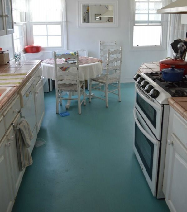 Rescue linoleum love this oh how i wish i had pinterest for Can linoleum be painted