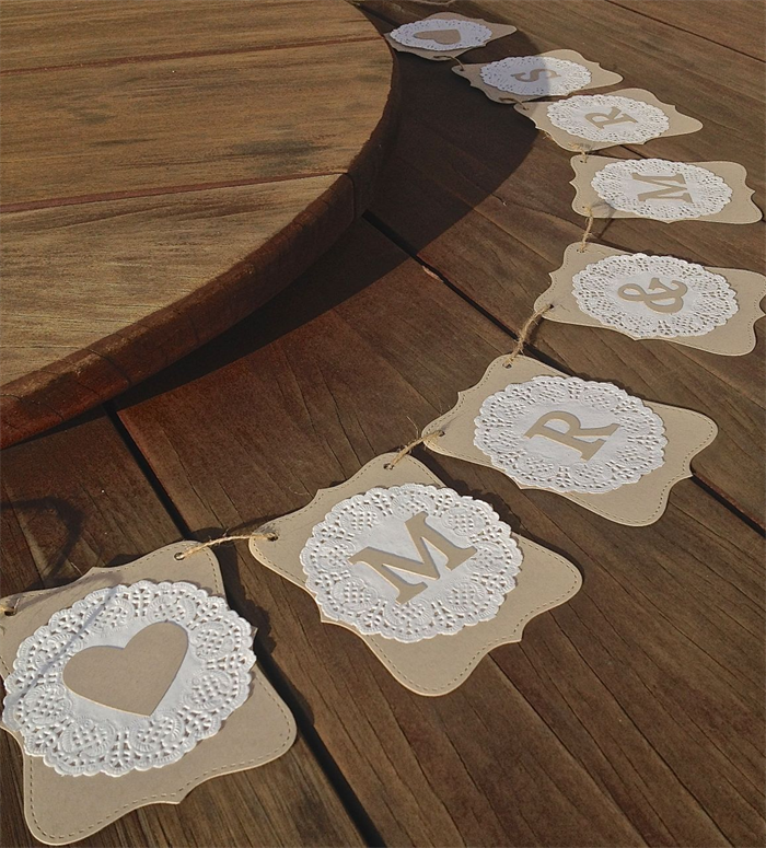 Diy Wedding Word Banners: Doilies This Is An Easy Decoration To