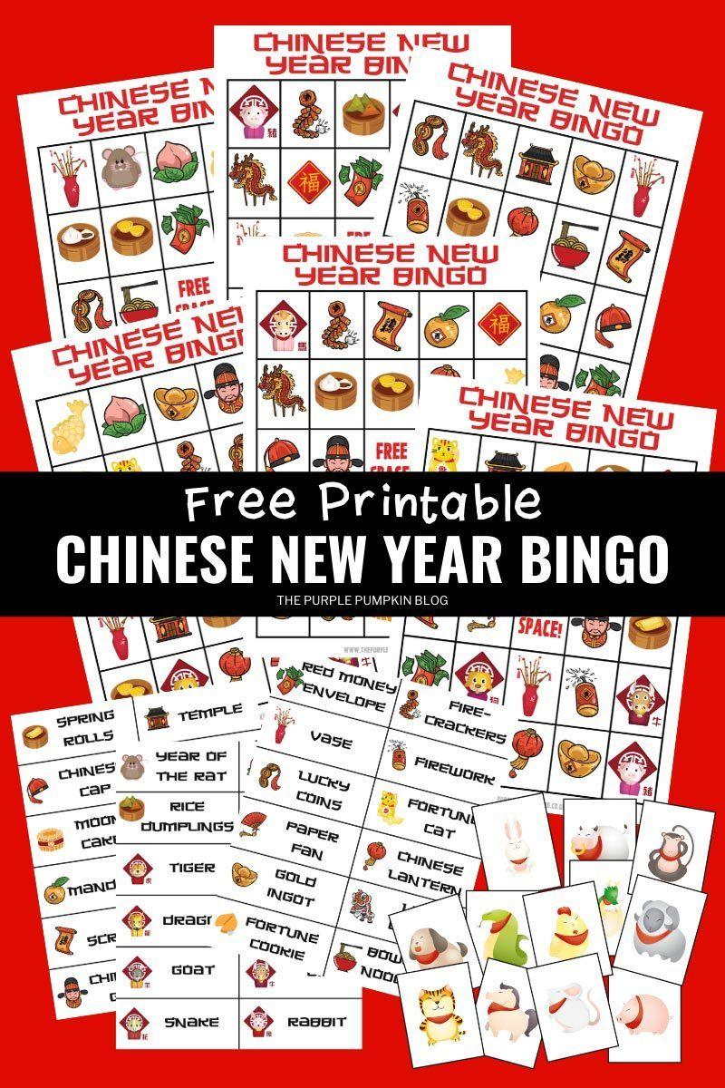 Chinese new year bingo free printable year of the rat