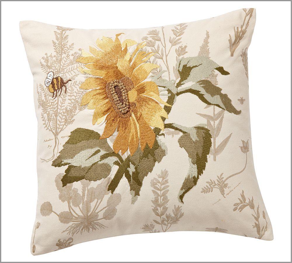 Decorative Pillows With Sunflowers : Sunflower Pillow Spring / Summer Decor Pinterest
