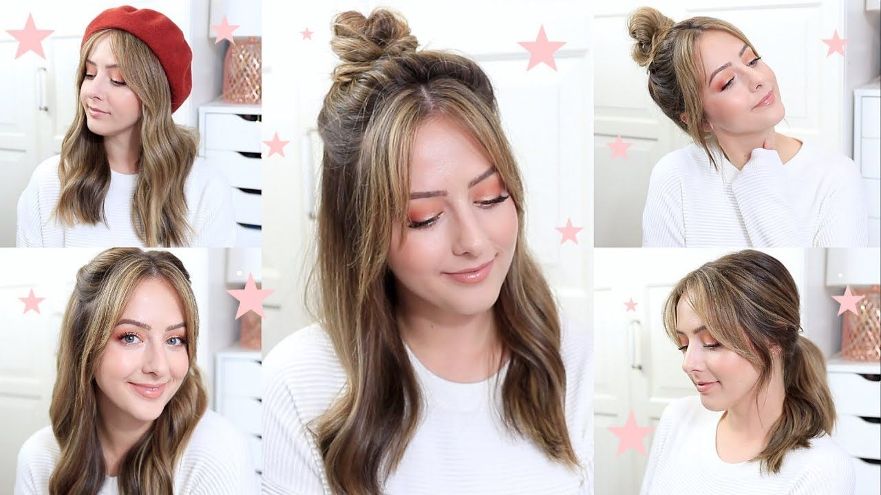 Easy Everyday Hairstyles For Bangs Easy Everyday Hairstyles Hair Styles Everyday Hairstyles