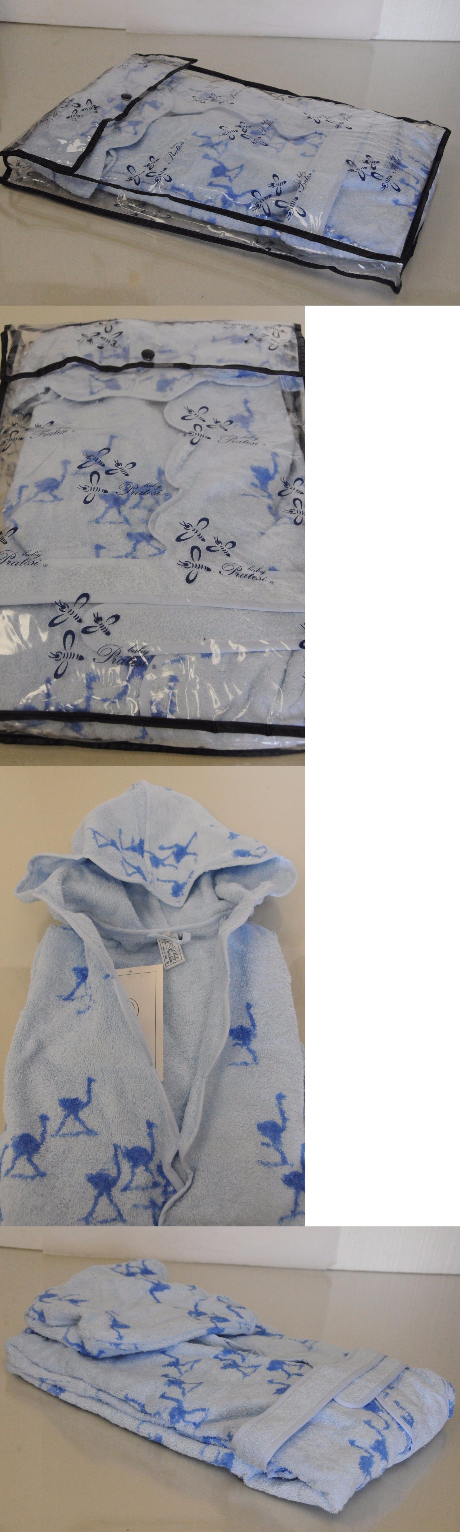 Sleepwear 99735   530 New Blue Baby Pratesi Scalloped Terry Bath Girls Robe  Exquisite! Size a39f3eaad