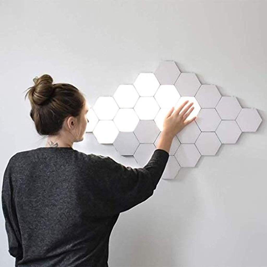 Psspco Led Nanoleaf Leuchtplatten Beruhrungsempfindlich Wabenform Weisse Diy Wand Beleuchtungssystem Arbeitszimmerdekoratio Touch Lamp Motion Lights Wall Lights