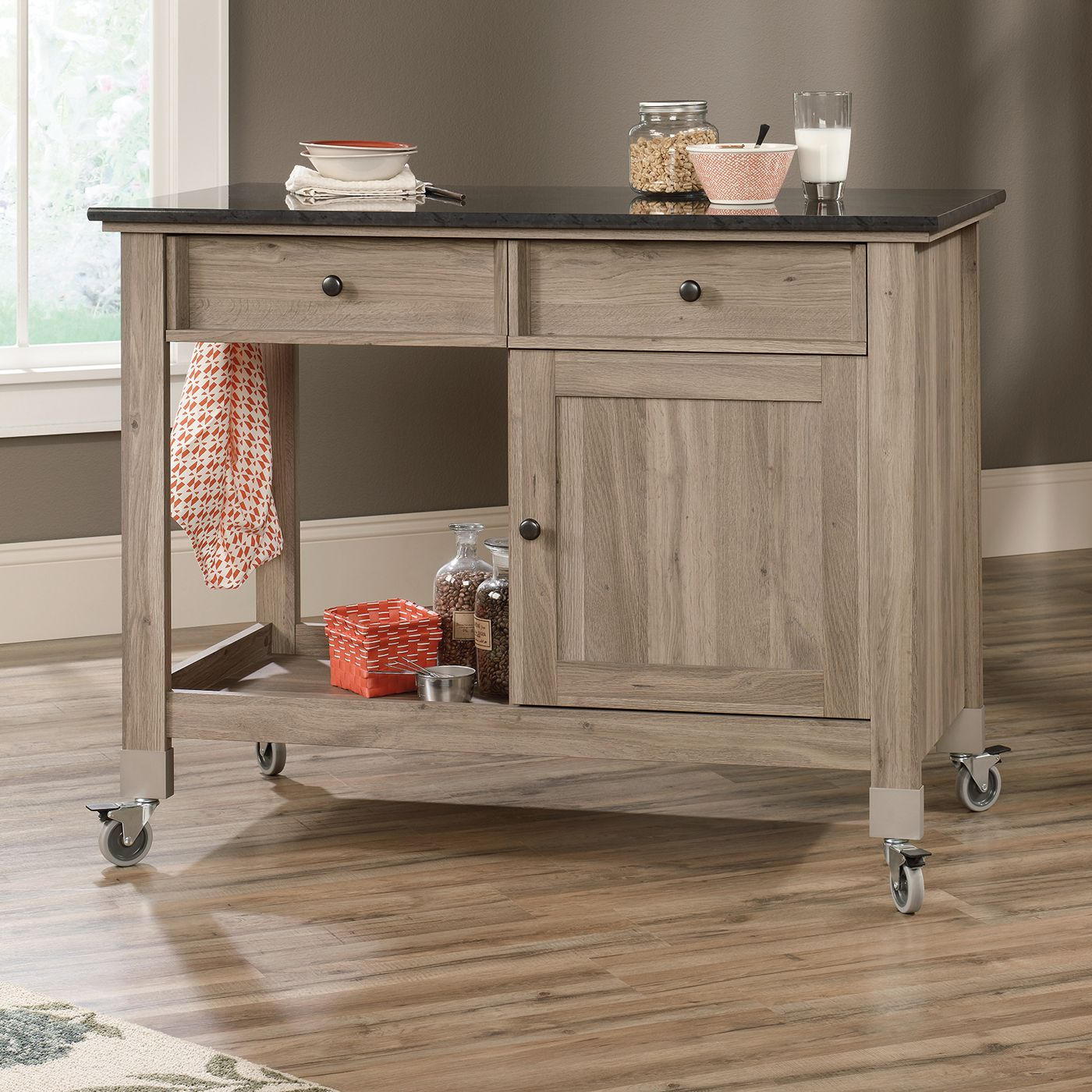 need a little extra counter space wishing for more storage a mobile kitchen island rolls in on kitchen island ideas kids id=43604