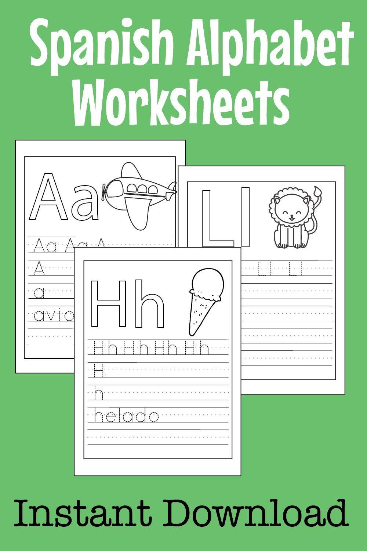 Spanish Abc Worksheets For Kids Preschool Kindergarten Etsy Abc Worksheets Alphabet Worksheets Preschool Letters [ 1500 x 1000 Pixel ]