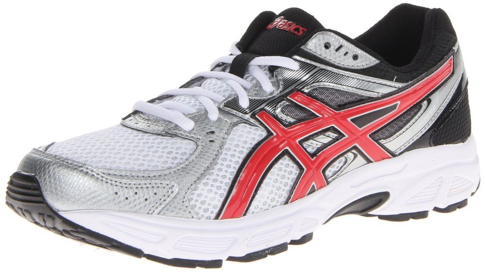 1c3d5b1a3be2 Asics men s gel contend 2 running shoes white red black size 11