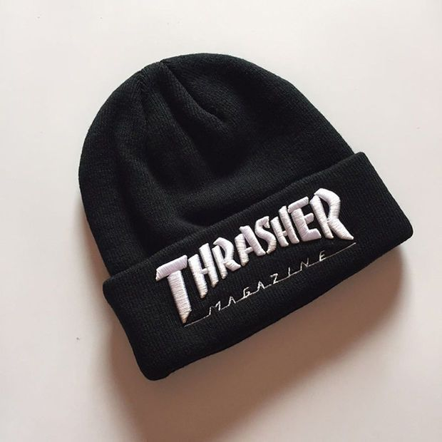 Thrasher Magazine Black Beanie