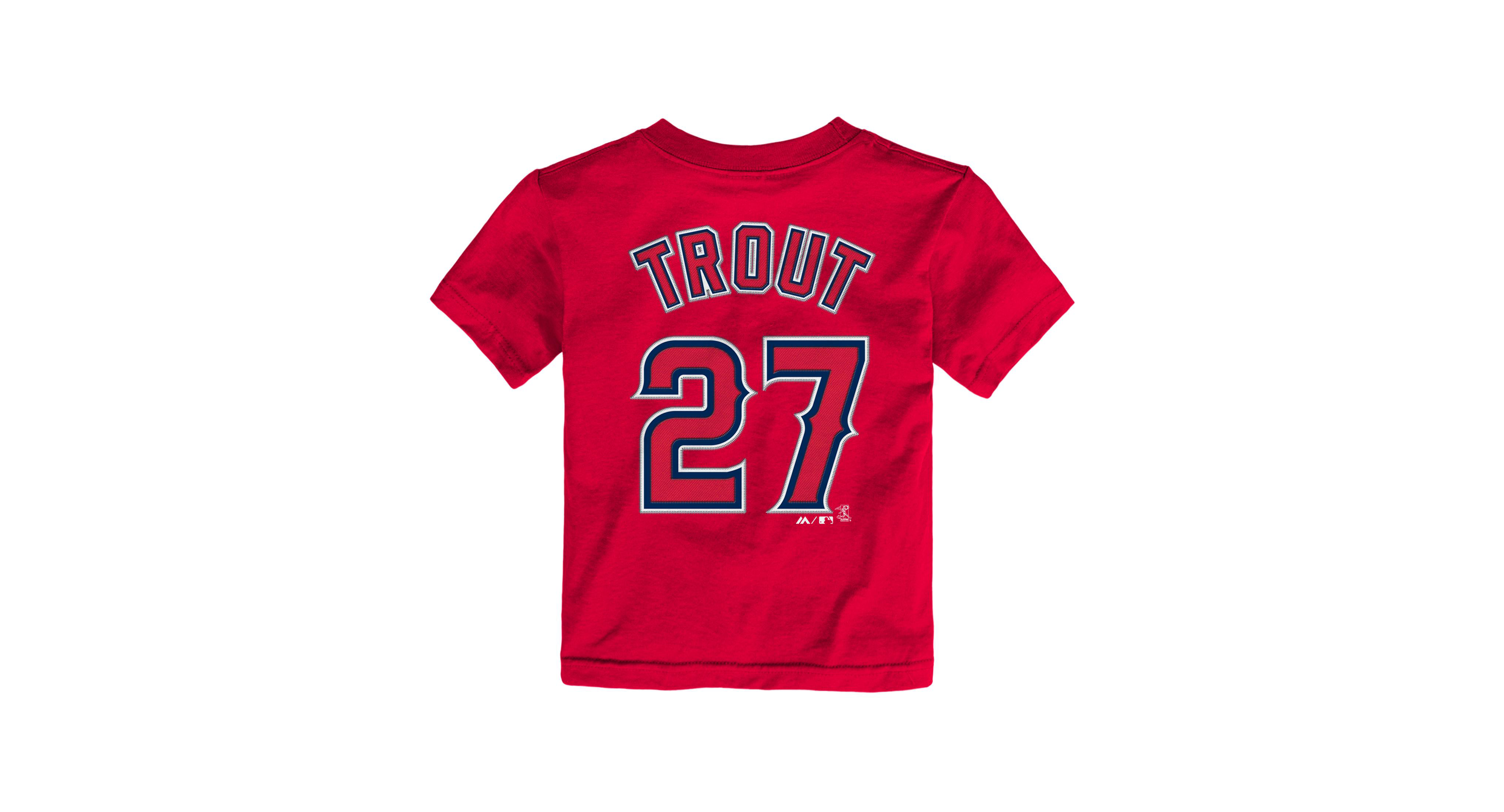 quality design fc43e aa4b0 Toddlers' Mike Trout Los Angeles Angels of Anaheim Player T ...