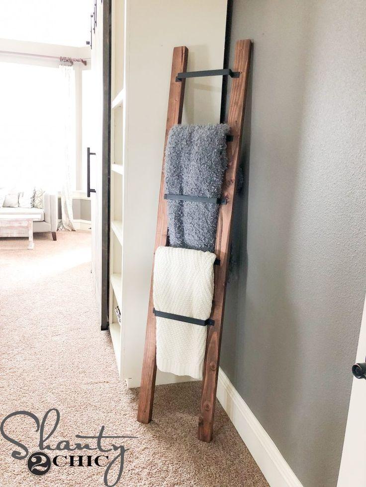 Barn Door Pull Blanket Ladder (With images) Diy barn