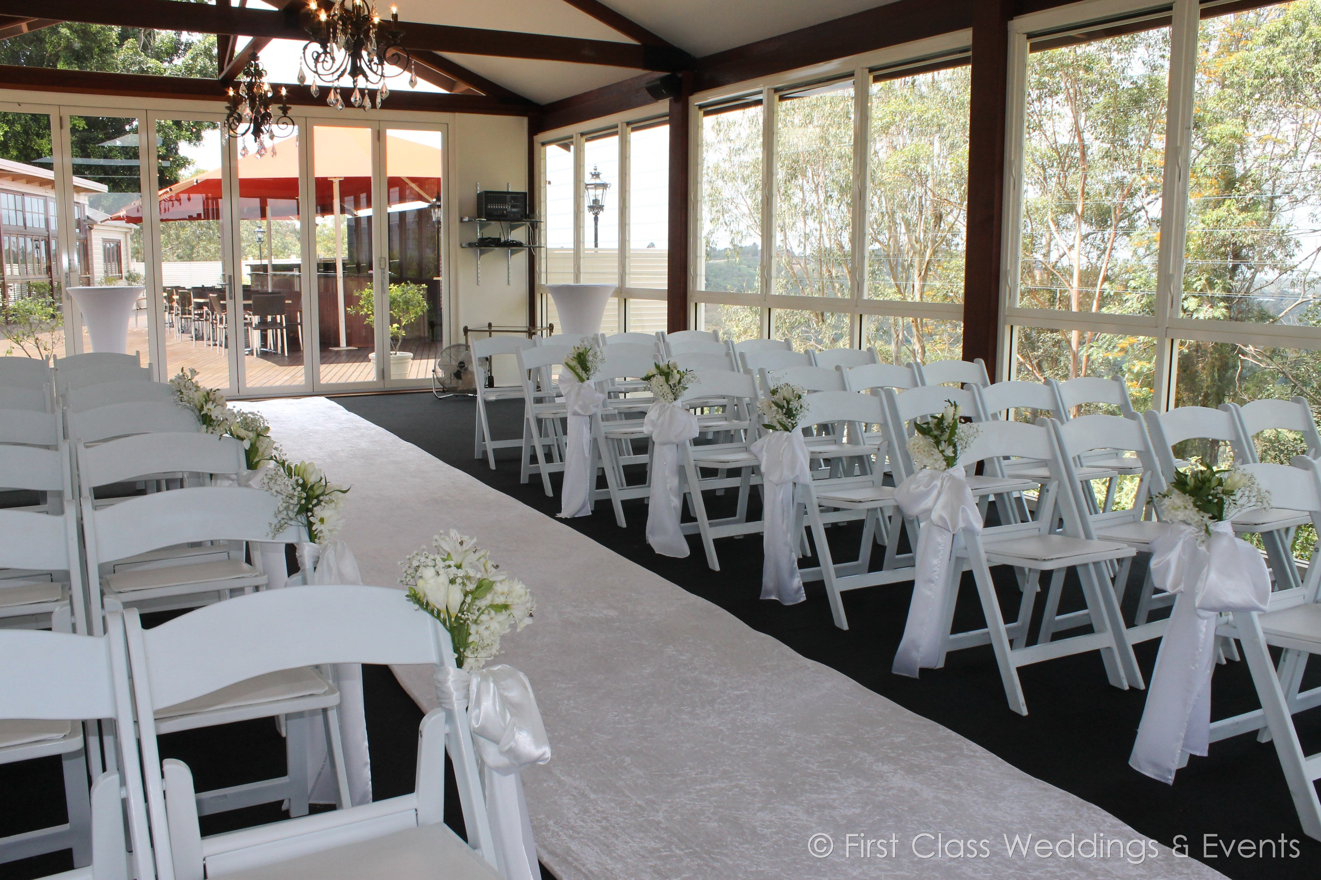 White Ceremony Setting