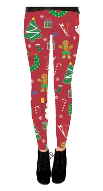 Commemorate your favorite cult classic with an awesome Holiday Symbols All Over Juniors Red Ugly Christmas Leggings . Free shipping on Ugly Christmas Sweaters orders over $50.