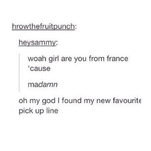 French pickup line. Lol | Funny | Pinterest | Laughter and Humor