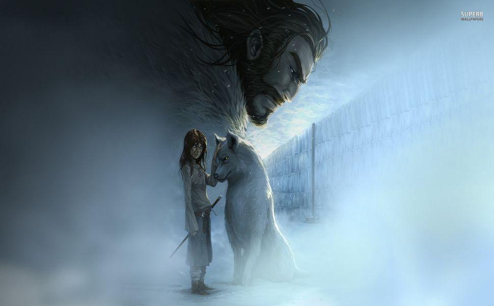 Arya Stark And Nymeria Hd Wallpaper Anime