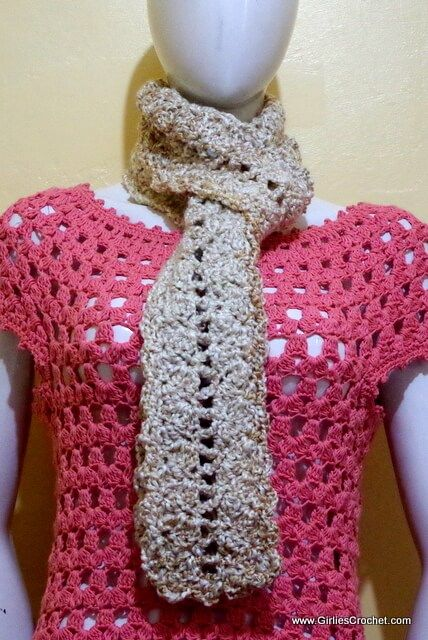 Carla Crochet Scarf | Tejido
