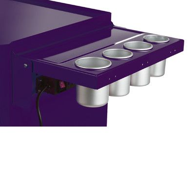 Viper Tool Storage Folding Salon Cart Power Shelf Color: Purple