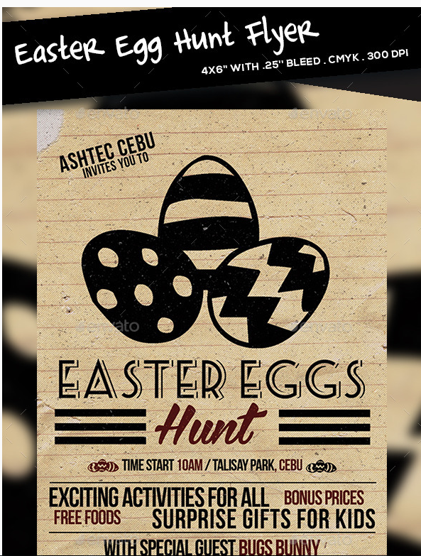 Beautiful Easter Flyer Template   Beautiful Easter Flyer