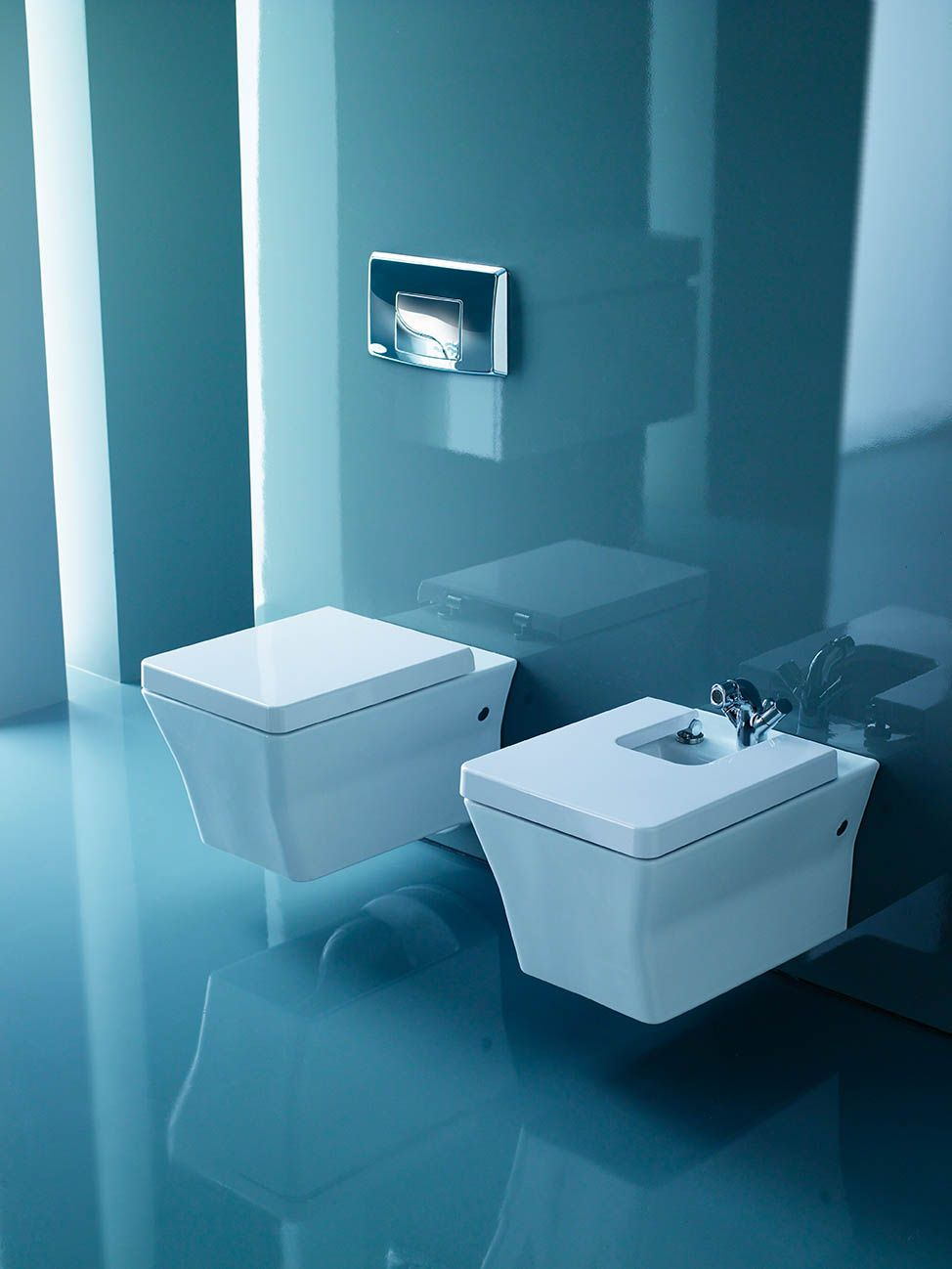 The Reve Wall Hung WC With Soft Close Lid And Dual Flush, Is And Bidet From  Kohler.