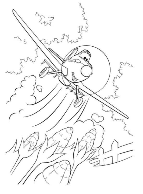 Coloring Page Planes Dusty Crophopper Coloring Pages For My